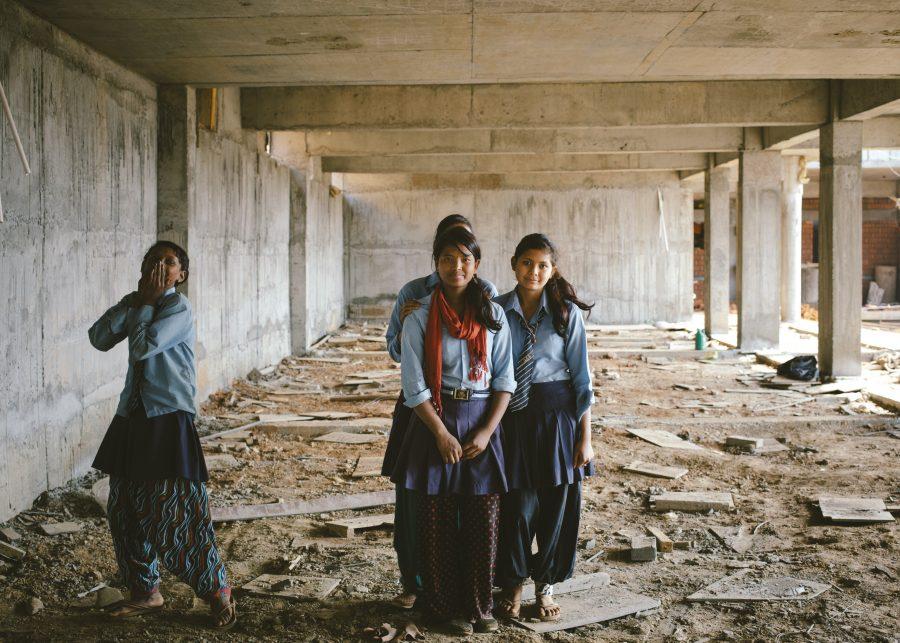 Nepal jordskælv skole