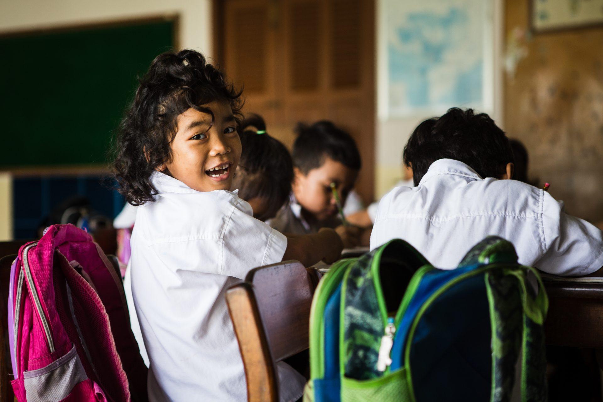 Cambodja skole børn ECCO