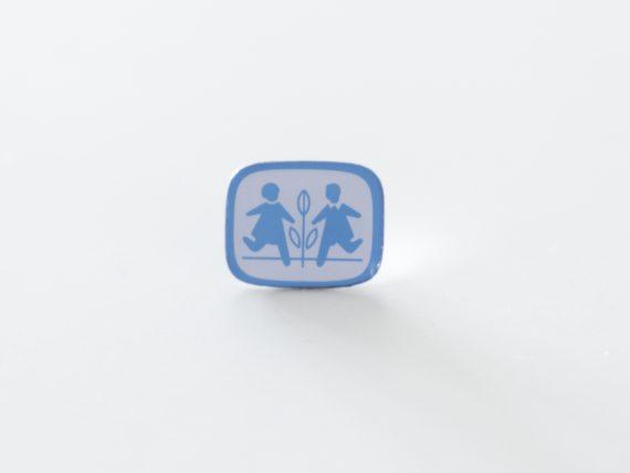 SOS Børnebyerne - Pin med SOS Børnebyernes logo