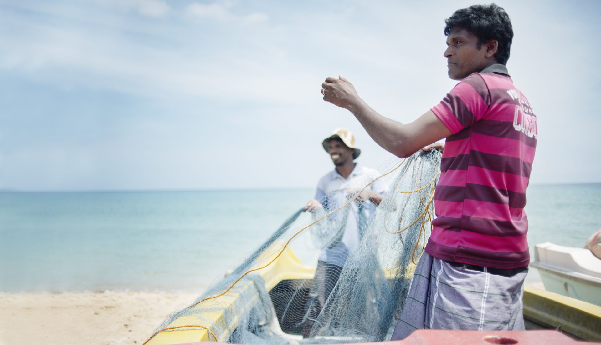 Fiskeren Peter ved Sri Lankas østkyst -Foto: Sara Kollberg